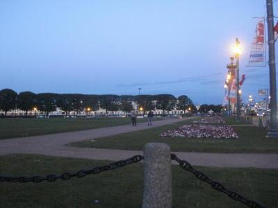 Ночь на стрелке Васильевского острова