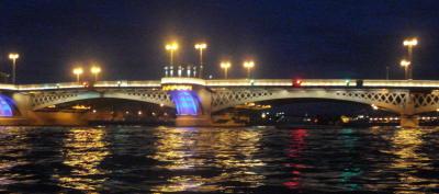 Благовещенский мост ночью (бывший Лейтенанта Шмидта, бывший Николаевский )