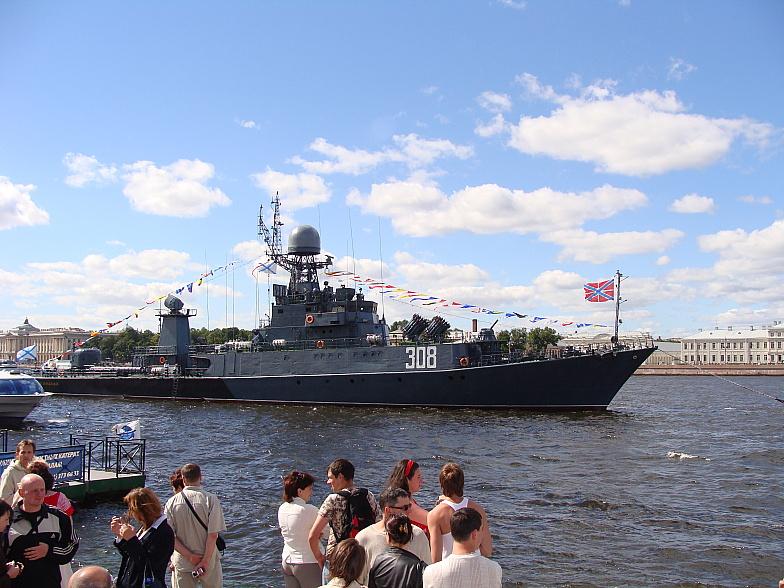 МПК-99 «Зеленодольск» - малый противолодочный корабль проекта 1331М на рейде Невы